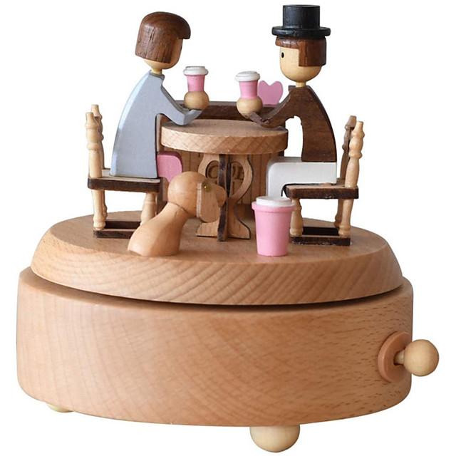 木製のオルゴール木彫りのメカニズムオルゴール巻き上げオルゴール美しい彫刻が施された木製のオルゴールバレンタインのdaydiy木製のオルゴール子供のための最高の贈り物、友達のギフトボックス(恋人)