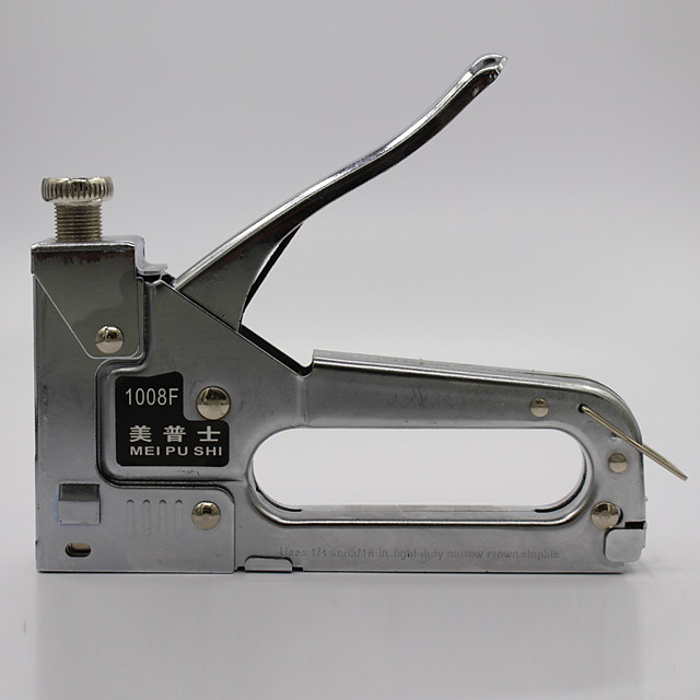 Manual Stapler Nailer Gun 1008u for Oil Painting Frame Wood Craft Carpentry Decoration DIY U type 10x6mm~10x8mm