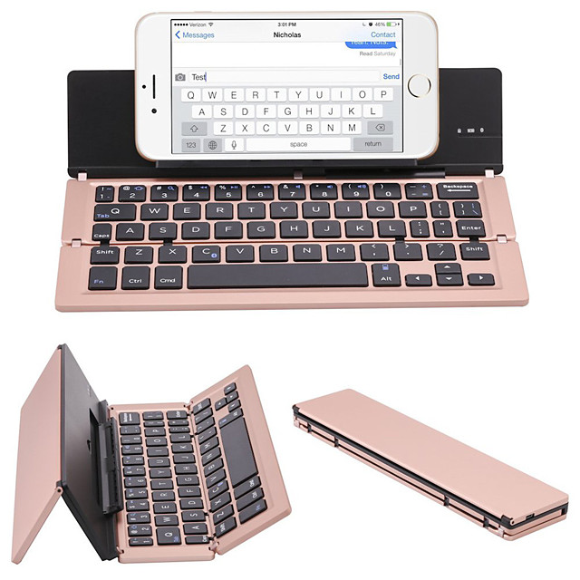 2021 hiperdeal portable aluminum folding blueteeh keyboard men foldable compatible a0538-1 for pc laptop