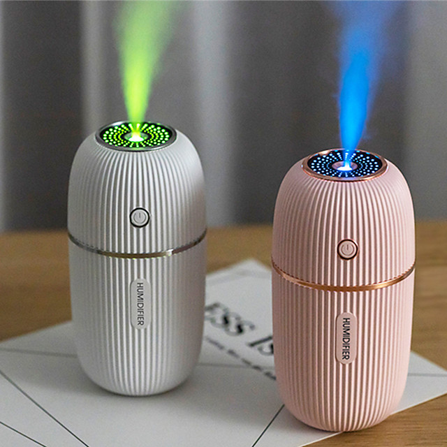Humidifier 300ml Ultrasonic USB Aroma Essential Oil Diffuser Romantic Color Night Lamp Mist Maker Humidificador Portable
