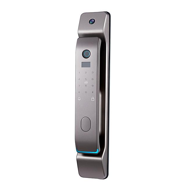 p12 fingerprint lock automatic household anti-theft door nest open smart door lock with cat's eye camera password electronic