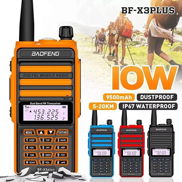camoro digitaalinen radiopuhelin 10w ip67 baofeng bf-x3plus dmr kolmikaistainen kinkku cb radiolähetin-vastaanotin