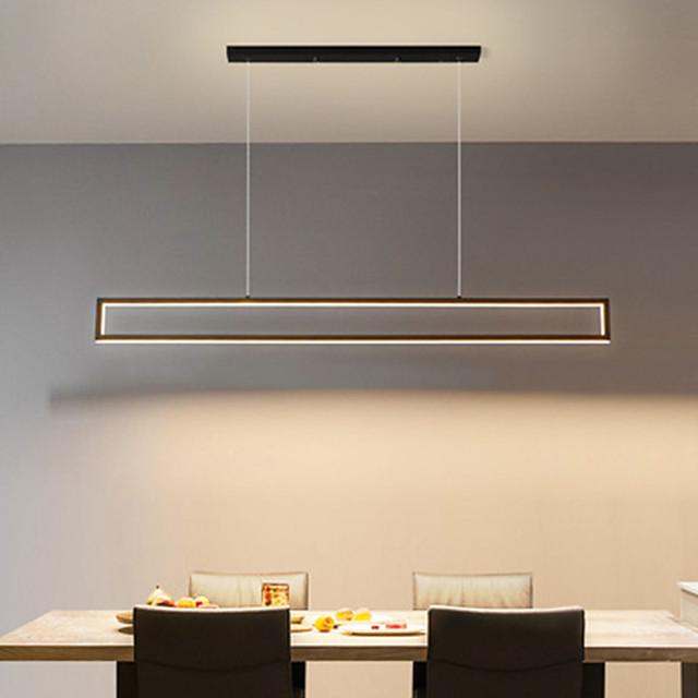 LED Pendant Light Island Light 100 cm Geometric Shapes Single Design Pendant Light Metal Artistic Style Modern Style Black Artistic LED 110-120V 220-240V