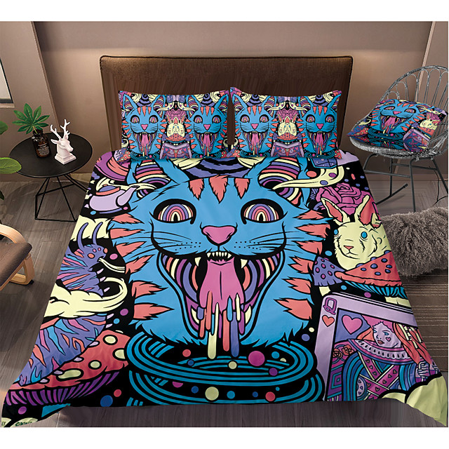 Colorful Tie Dye Duvet Cover Set Boho Hippie Bedding Set Rainbow Tie Dyed Comforter Cover Queen 3 Pieces for Kids Teens Adults
