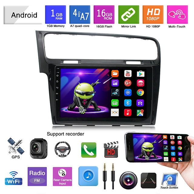 suitable for volkswagen golf 7 android navigation integrated machine android mp5 player gps navigation reversing image