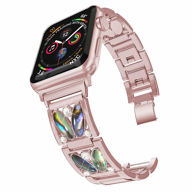 Smart Watch Band for Apple iWatch 1 pcs Jewelry Design Stainless Steel Replacement  Wrist Strap for Apple Watch Series SE / 6/5/4/3/2/1