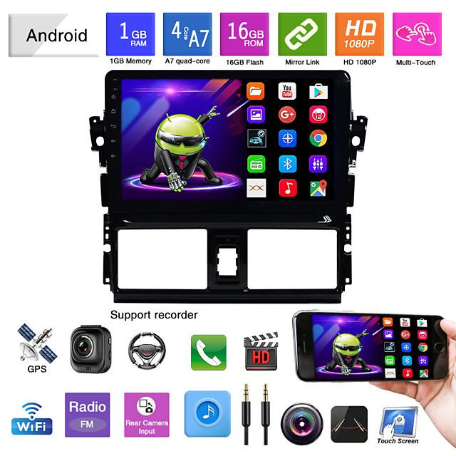 κατάλληλο για toyota vios android navigated ενσωματωμένο μηχάνημα android mp5 player gps navigation αναστροφή εικόνας vios