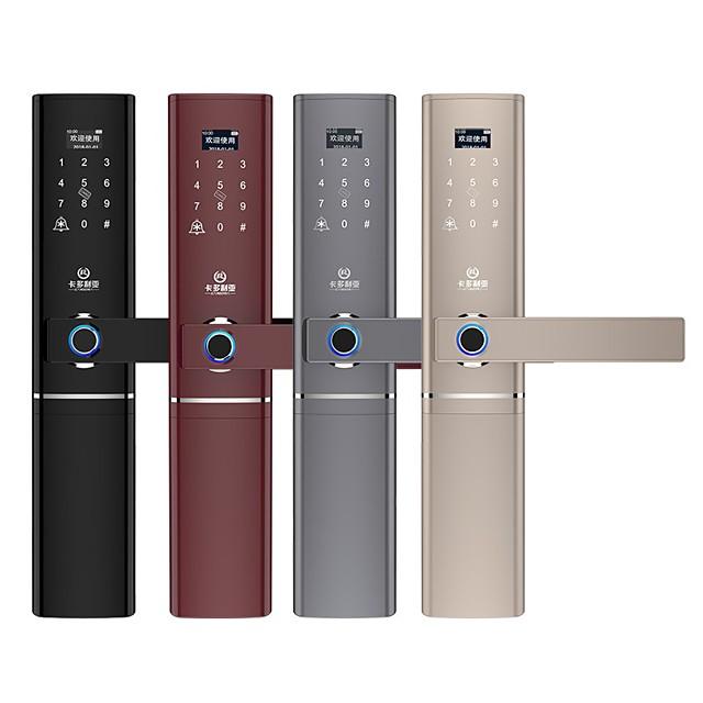 Tuya Smart Fingerprint Door Lock Smart Wifi APP Lock Bluetooth Unlock Security Intelligent Lock Biometric Electronic Door Lock