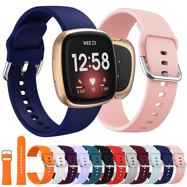 Smart Watch Band for Fitbit Classic Buckle Silicone Replacement  Wrist Strap for Fitbit Versa 3 FitbitSense
