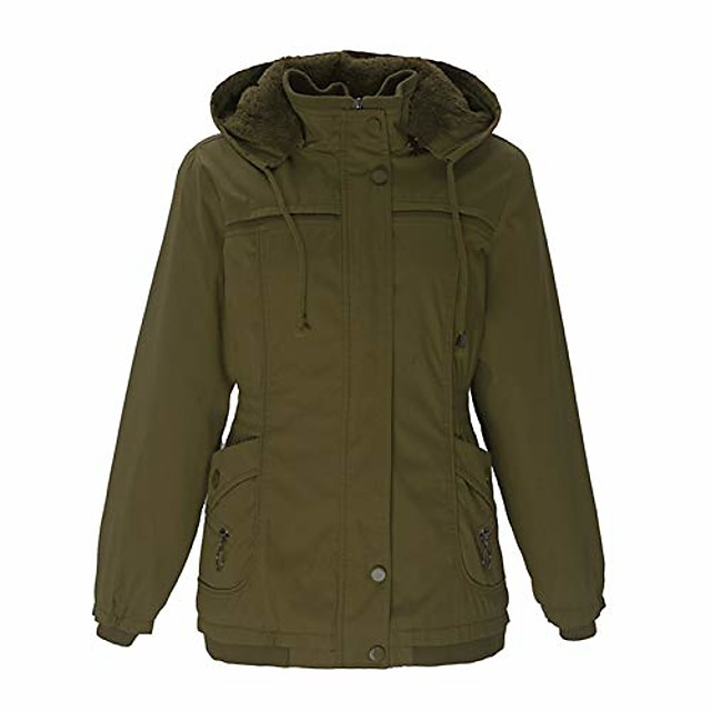 Women's Hiking Jacket Hoodie Jacket Hiking Fleece Jacket Autumn / Fall Winter Outdoor Quick Dry Lightweight Breathable Sweat wicking Outerwear Winter Jacket Top Hunting Fishing Climbing Black Red