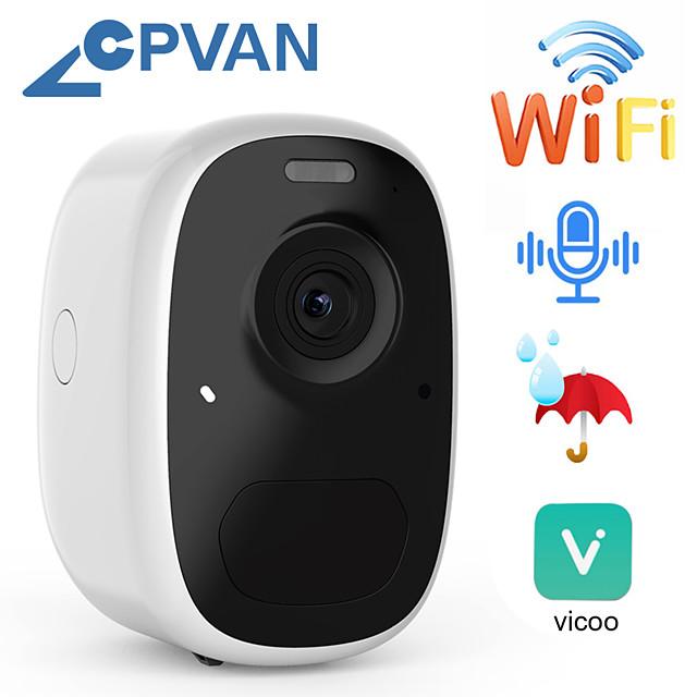 cpvan ip batterij camera outdoor 1080p draadloze home security camera ip65 watherproof outdoor pir app alarm push