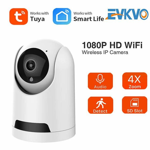 Tuya SmartLife 1080P IP Camera Wireless WiFi Mini Camera 2MP Auto Tracking Security Surveillance CCTV PTZ Camera Baby Monitor