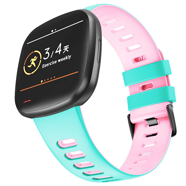 Watch Band for Fitbit Classic Buckle Silicone Wrist Strap for Fitbit Versa 3