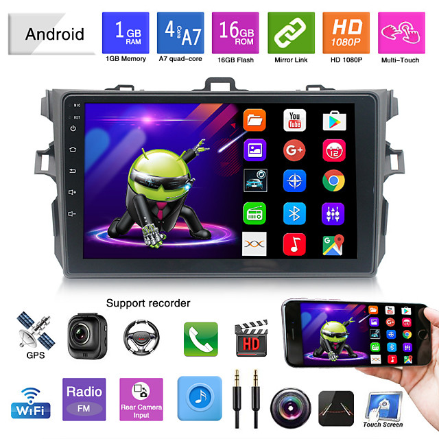 suitable for toyota corolla small box 9 inch android navigation integrated machine android mp5 player gps