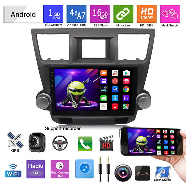 suitable for toyota 09-12 highlander car android gps navigation all-in-one car bluetooth reversing image