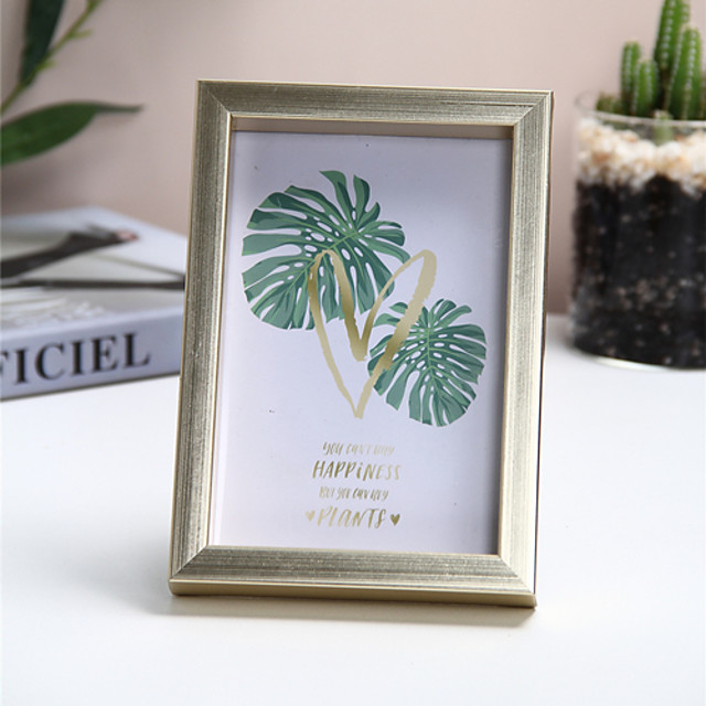 1 Piece Of 6-inch Gold Color Photo Frame Decoration