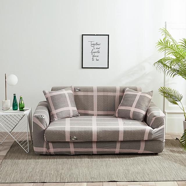 szara siatka odporna na kurz wszechmocne narzuty rozciągliwa narzuta na sofę super miękki pokrowiec na kanapę z jednym bezpłatnym pokrowcem (krzesło / fotel miłosny / 3 miejsca / 4 miejsca)