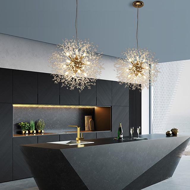 9-Light 50 cm Globe Design Pendant Light Metal Stylish Globe Beads Electroplated Modern Nordic Style 110-240 V