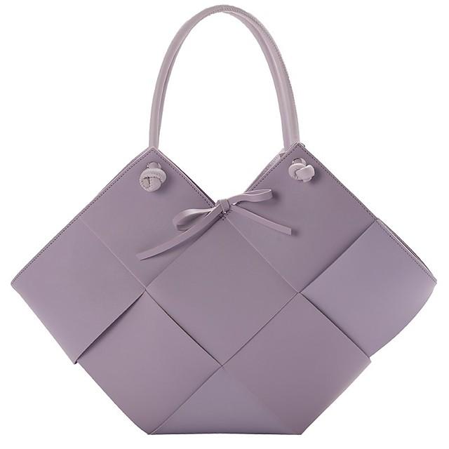 여성용 가방 가방 세트 탑 핸들 백 데이트 사무실 및 경력 2021 핸드백 화이트 블랙 퍼플 카키