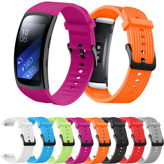 Akıllı Saat Bandı için Samsung Galaksi 1 pcs Spor Bantları Silikon Değiştirme Bilek Askısı için Samsung Gear Fit 2 PRO