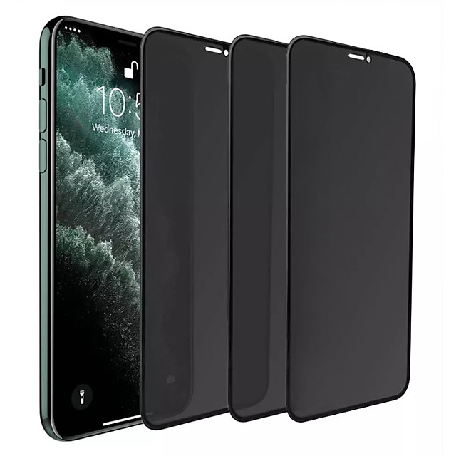 3PCS Privacy Screen Protector For iPhone 12 Pro 11 Pro Max Filter Tempered Glass Full Coverage Film Anti-Peeping Shield Screen Protector for iPhone 12 mini 11 Pro  X XR Xs 7 8 Plus 9H