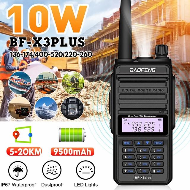 X3PLUS Walkie talkie Analog Dubbelband Tvåvägsradio >10 km >10 km
