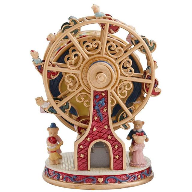 roterend reuzenrad beer muziekdoos prachtige geschenk muziekdoos voor vrouwen meisjes jongens moeder kinderen valentijnscadeau verjaardagscadeau (melodie: kasteel in de lucht)