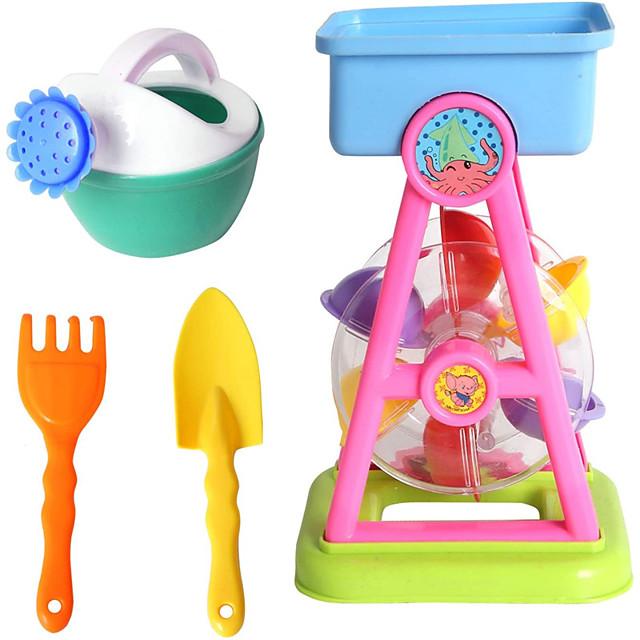 Beach Sand Toys for Kids Outdoor Play - Waterwheel Beach Basics Toys Set w/ Shovels, Rakes, Sprinkler, Sand Beach Bucket Toys Party Favor Pools Water Toys for Kids Birthday Gift