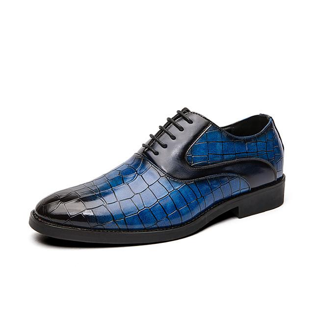 男性用 オックスフォードシューズ 革靴 オックスフォード印刷 ビジネス カジュアル クラシック 日常 パーティー ナパ革 レザー 滑り止め 証明書を着用する ブーティー/アンクルブーツ ブラック イエロー レッド カラーブロック 春 夏