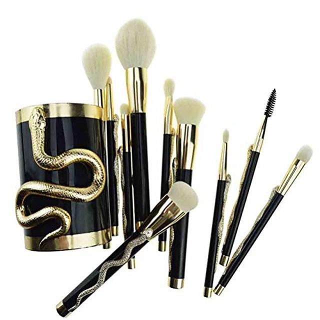 10pcs/set makeup brushes foundation concealer eyeshadow eyeliner lip blending make up maquillage & makeup brush bucket make up brushes tool kit (color : gold)