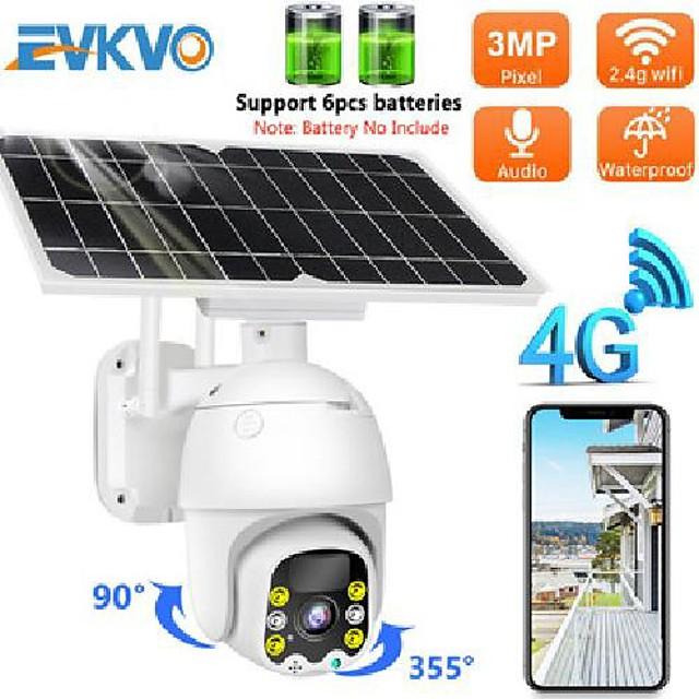 Sim Card 4G Solar IP Camera 8W Solar Panel Wifi Outdoor Ptz Camera H.265 Smart Security Monitor 3G Speed Dome 4X Zoom Camera