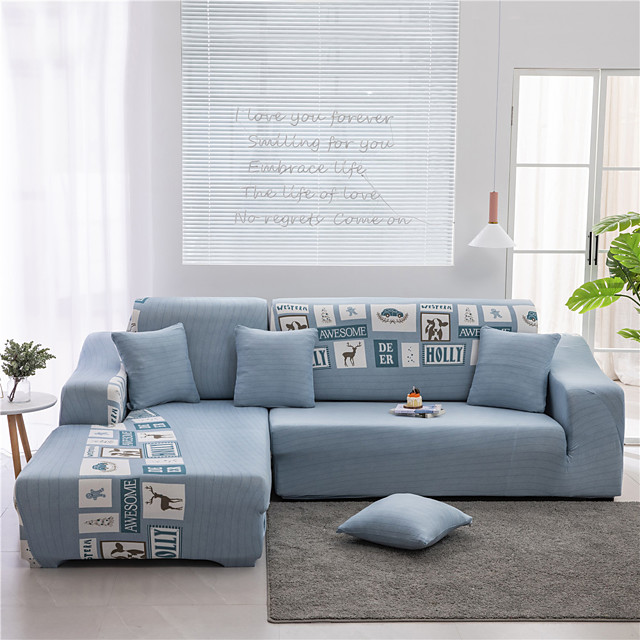 Slipcover Geometric Print Sofa Cover Couch Cover Furniture Protector Soft Stretch Slipcover Spandex Jacquard Fabric Super Fit for Armchair/Loveseat/Three Seater/Four Seater/Sectional sofa