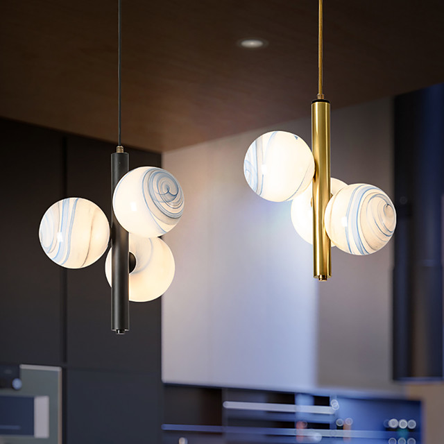 LED Pendant Light Modern Black Gold Bedside Light 24 cm Single Design Metal LED Nordic Style 110-240 V