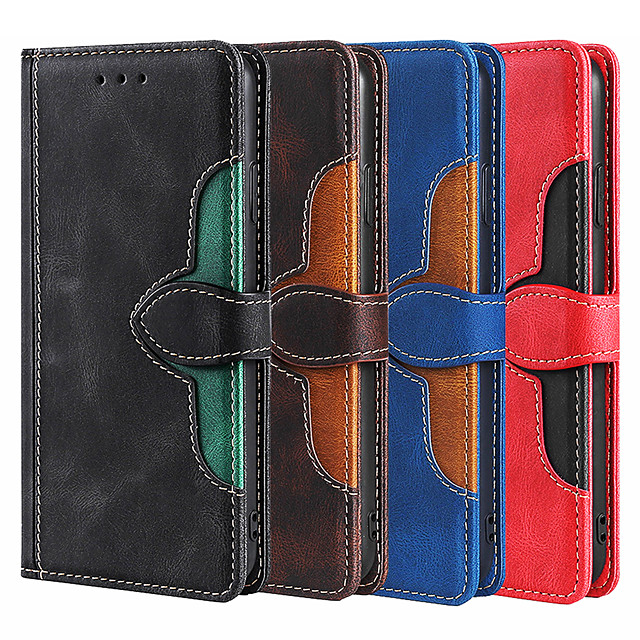PU Leather Wallet Case For Samsung Galaxy S21 Ultra S21 Plus S20 Ultra A72 A52 A71 A51 A21s Slim Wallet With Cards Holder Full Body Protective Case For Samsung Galaxy Note 20 Ultra Note 10 M31 M51