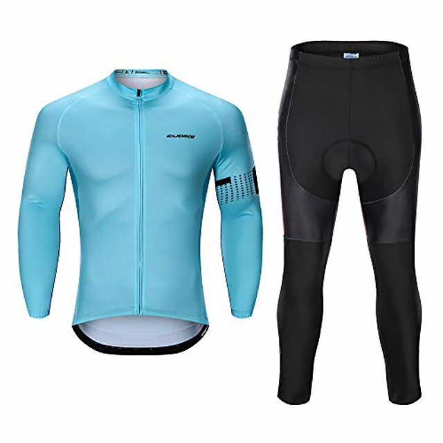 men's long sleeve cycling jersey sets cycling clothes outdoor riding suits quick dry outfits