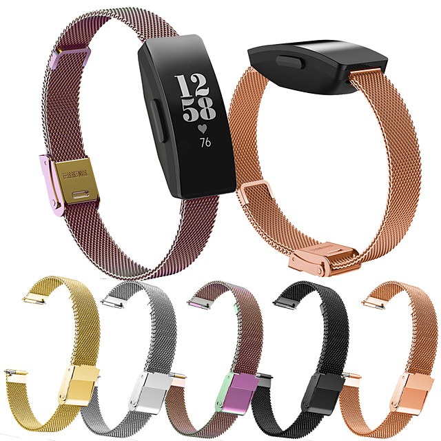 Smart Watch Band for Fitbit Milanese Loop Stainless Steel Replacement  Wrist Strap for Fitbit Ace 2 Fitbit Inspire HR Fitbit Inspire