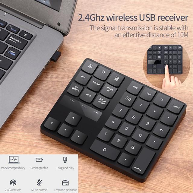 bluetooth 3.0 wireless numeric keypad 34 keys digital keyboard for accounting teller windows ios mac os android pc tablet laptop