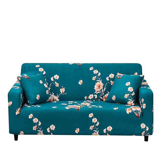 Sofa Cover The Geomet Print Dustproof Stretch Slipcovers Stretch  Super Soft Fabric Couch Cover Fit for 1 to  4 Cushion Couch and L Shape Sofa (You will Get 1 Throw Pillow Case as free Gift)