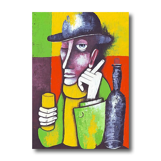 Stretched Oil Painting Hand Painted Canvas Abstract Comtemporary Modern High Quality Picasso Ready to Hang