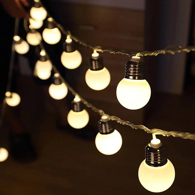 G50 Retro Bulb LED String Lights 3M 1.5M LED Bulb Light Battery or USB Operated Fairy String Light Christmas Wedding Family Party Holiday Home Decoration Lamp