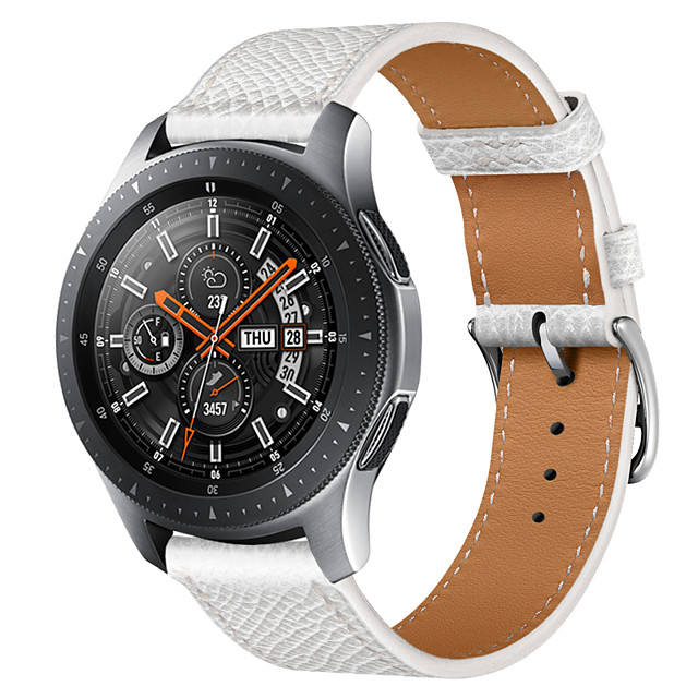 Smart Watch Band for Samsung Galaxy 1 pcs Business Band Genuine Leather Replacement  Wrist Strap for Gear S3 Frontier Gear S3 Classic Samsung Galaxy Watch 46mm Samsung Galaxy Watch 3 45mm Galaxy