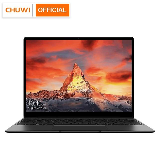CHUWI GemiBook Netbooks 13 inch 2K IPS LPDDR4X 12GB 256GB SSD Computer Intel Celeron Quad Core Laptop with Backlit Keyboard