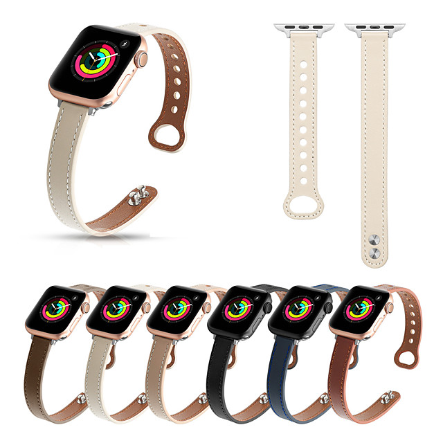 Smart Watch Band for Apple iWatch Business Band Genuine Leather Replacement  Wrist Strap for Apple Watch Series SE / 6/5/4/3/2/1