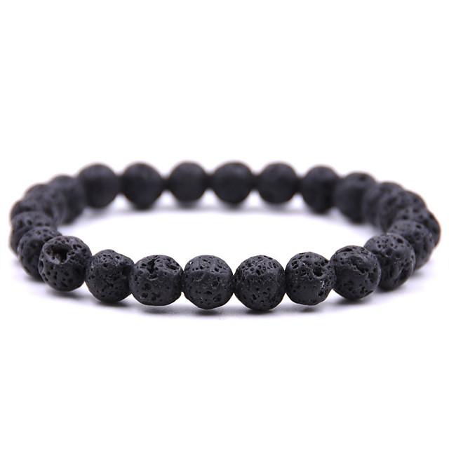 natural stone full bead bracelet volcanic stone turquoise bracelet
