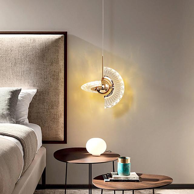 LED Pendant Light Modern Bedside Light Adjustable 18 cm Lantern Desgin Pendant Light Metal Electroplated 110-120V 220-240V