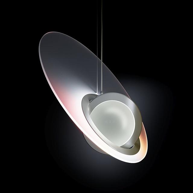 led privjesak moderno noćno svjetlo 40 cm jednostruko dizajnirano staklo moderan stil stilski minimalistički kromirano nordijski stil 220-240v