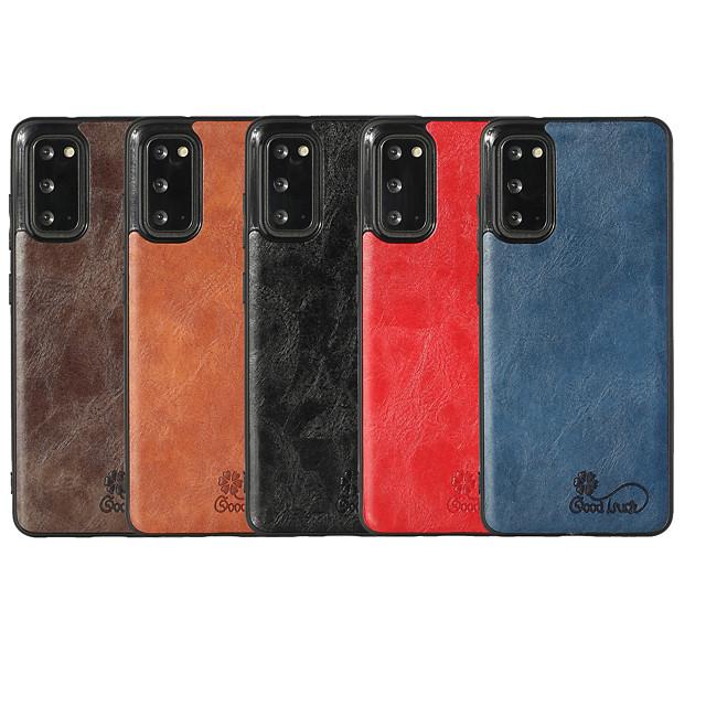 telefon fodral Till Samsung Galaxy Skal Läderfodral Galaxy A32 5G S20 S20 Plus S20 ultra S20 FE 5G Note 20 Ultra A91 / M80S A51 S10 S10 + Stötsäker Läder Ensfärgat PU läder