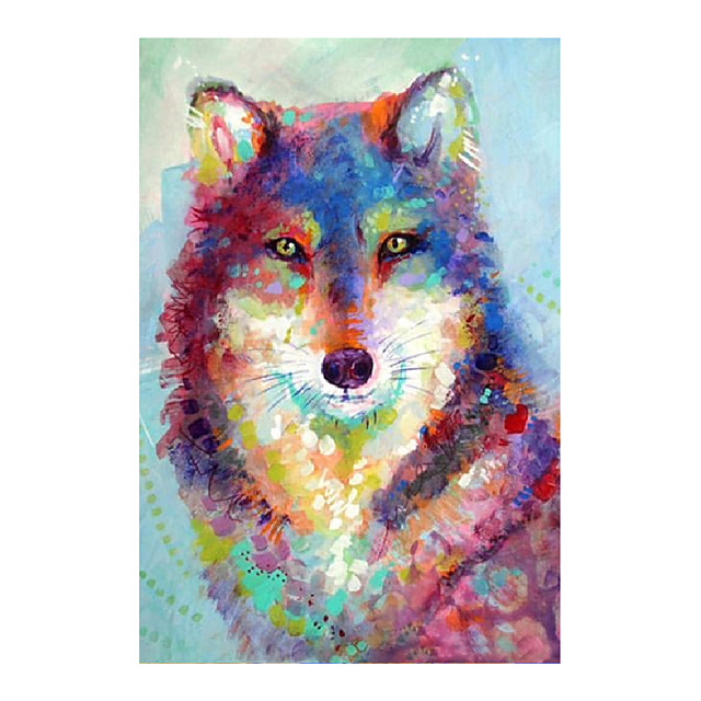 IARTS Hand Painted Wild wolf Oil Painting with Stretched Frame For Home Decoration