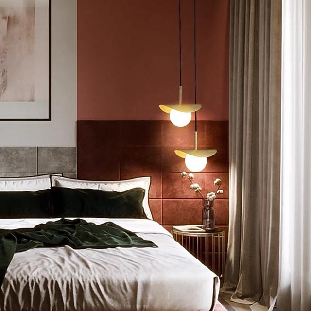 LED Pendant Light Bedside Lamp Nordic Modern 20 cm Gold Globe Desgin Pendant Light Metal Electroplated LED 110-120V 220-240V