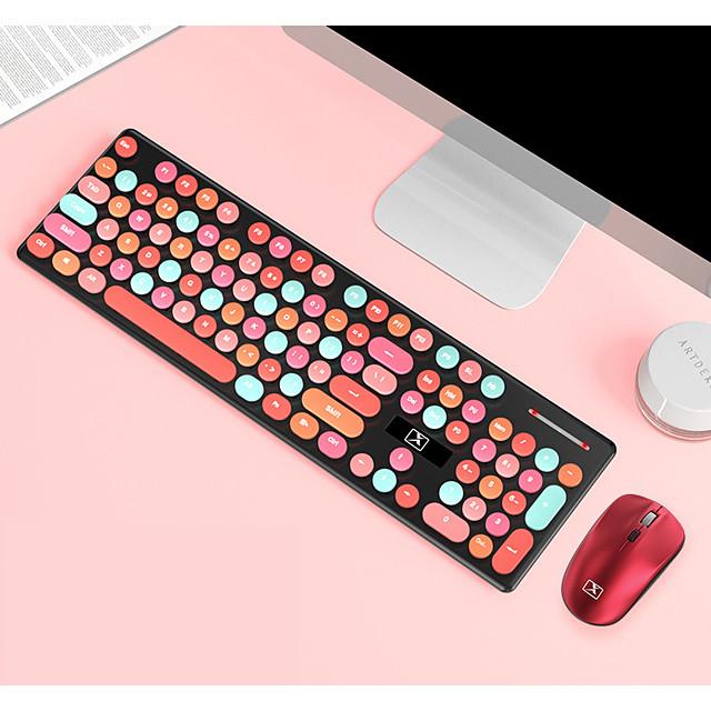 ข้ามพรมแดนพันธมิตรใหม่ n620 แป้นพิมพ์ไร้สายและชุดเมาส์คอมพิวเตอร์โน๊ตบุ๊คสำนักงานเกมแป้นพิมพ์และเมาส์ปิดเสียงเมาส์และแป้นพิมพ์